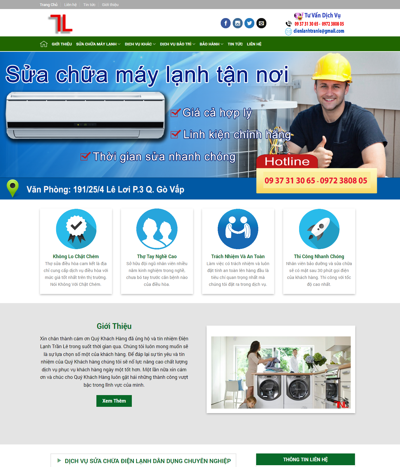screenshot suachuadienlanhhcm.com .vn 2017 11 16 15 56 00 - Thiết Kế Website