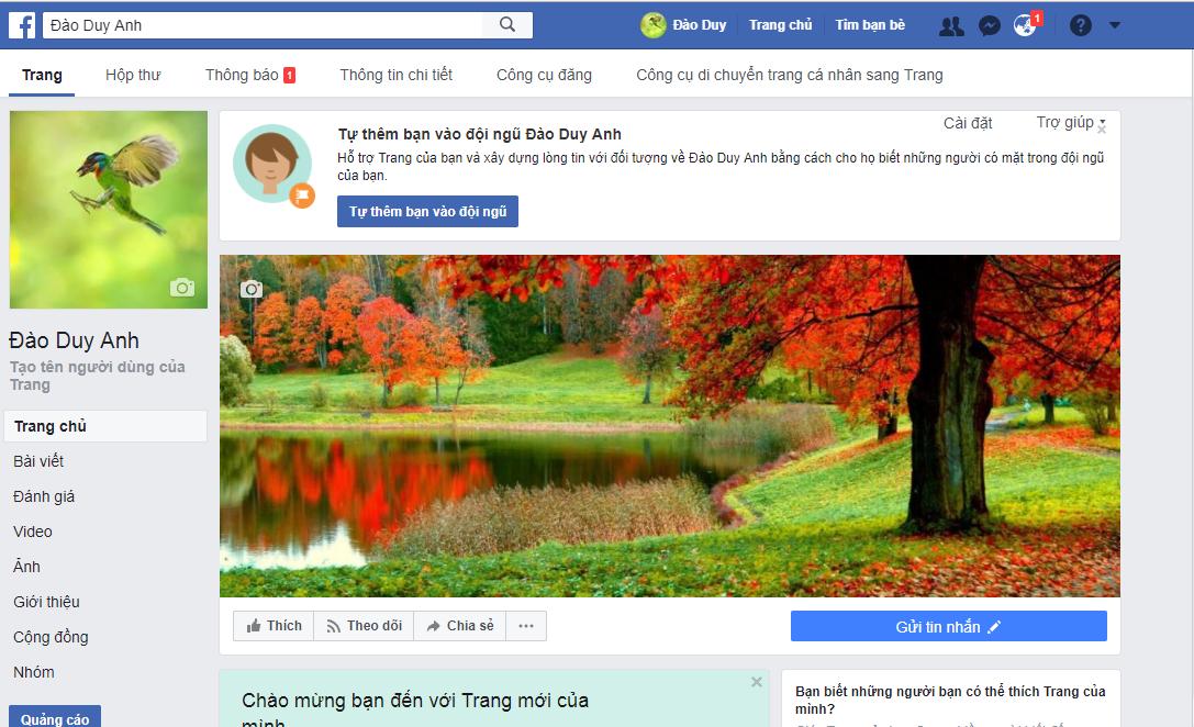 6 - Cách tạo Fanpage bán hàng có 5000 Like trong 5 giây