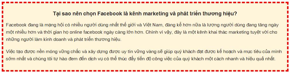 tai sao chon fb - Tăng Like Fanpage