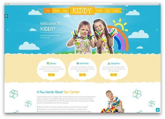 Dịch vụ thiết kế website mầm non