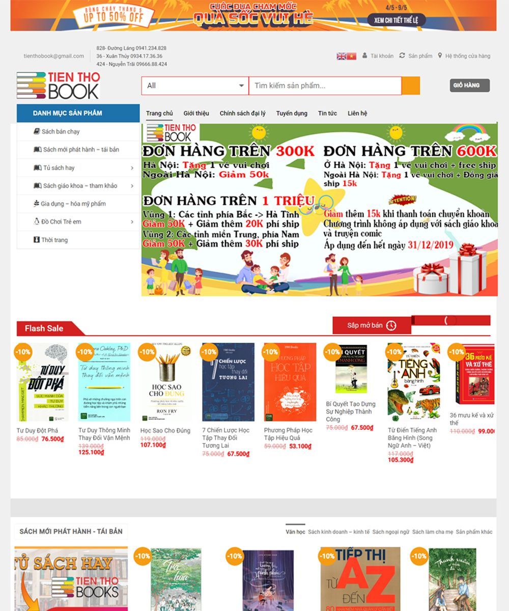 thiet ke website ban sach - Thiết Kế Website