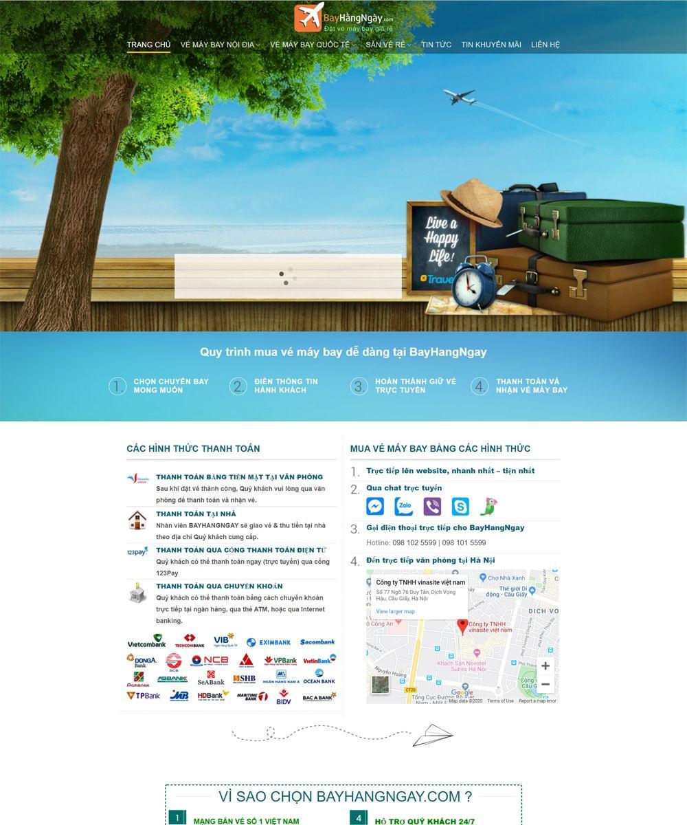 thiet ke website ve may bay - Thiết Kế Website