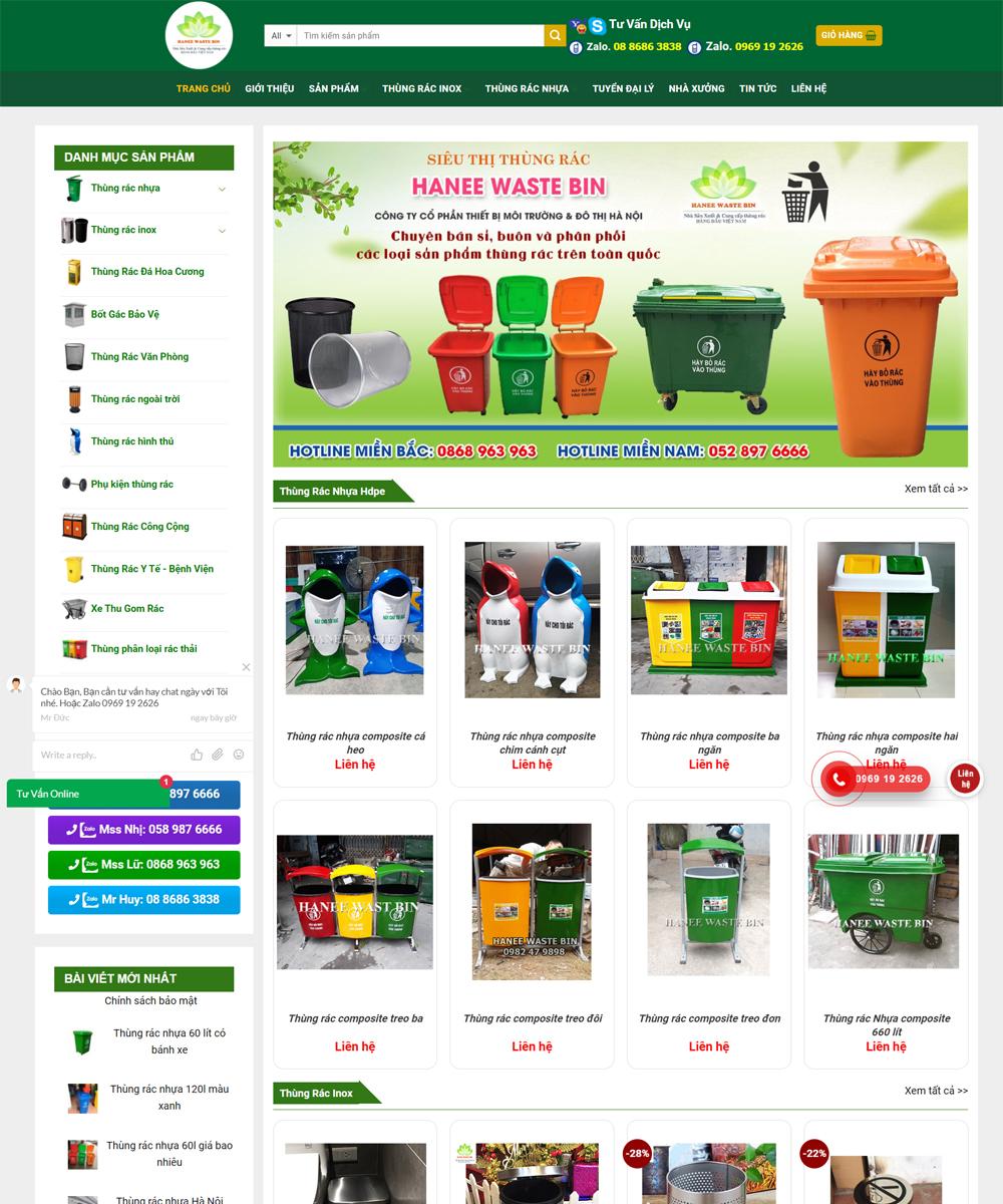 mua thung rac - Thiết Kế Website