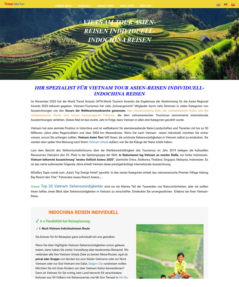web du lich - Thiết Kế Website